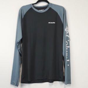 Columbia Black & Gray Long Sleeve Logo Shirt